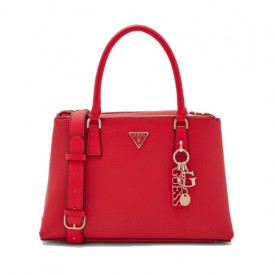 GUESS BECCA STATUS SATCHEL RED HWVG7742060