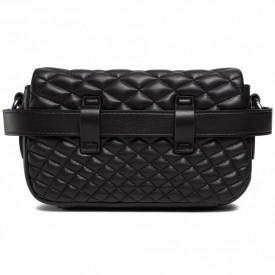 TRUSSARDI PRE DAISY BELT BAG SMOOTH QUILTING BLACK K299