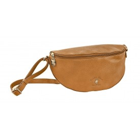 BEVERLY HILLS POLO CLUB BAGS GUADALUPA MARSUPIO DONNA IN ECOPELLE CUOIO - BH-2473
