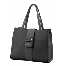 BEVERLY HILLS POLO CLUB BAGS DOMINICA BORSA DONNA IN ECOPELLE BLACK - BH-2450