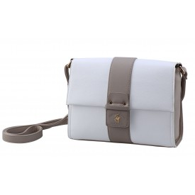 BEVERLY HILLS POLO CLUB BAGS DOMINICA TRACOLLA DONNA IN ECOPELLE PANNA- BH-2454