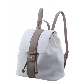 BEVERLY HILLS POLO CLUB BAGS DOMINICA ZAINO DONNA IN ECOPELLE PANNA- BH-2453