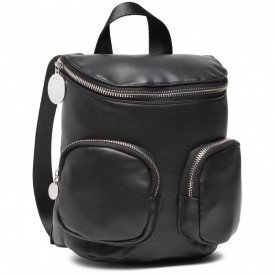 KENDALL+KYLIE BAGS CHARLIZE SMALL BACKPACK BLACK VEGAN LEATHER / SILVER HW - HBKK-221-0001-26