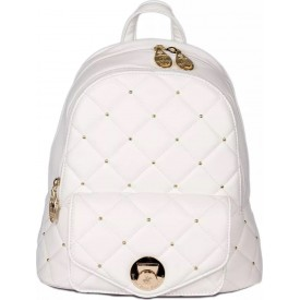 BEVERLY HILLS POLO CLUB BAGS ANTIGUA ZAINO DONNA IN ECOPELLE WHITE- BH-2403