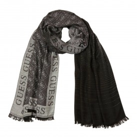 GUESS CATHLEEN JACQUARD SCARF 80X180  COAL AW8459VIS03