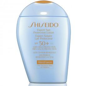 SHISEIDO GLOBAL SUN CARE EXPERT SUN WET FORCE PROTECTION LOTION SENSITIVE PLUS SPF50  100ML