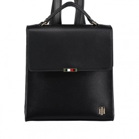 TOMMY HILFIGER SAFFIANO BACKPACK Black AW0AW08536