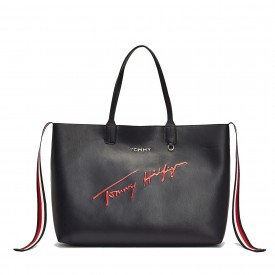 TOMMY HILFIGER ICONIC TOMMY TOTE SIGNATURE Sky Captain AW0AW08607