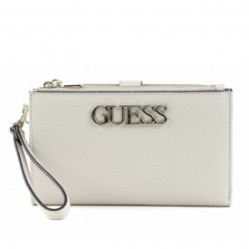GUESS UPTOWN CHIC SLG DBL ZIP ORG  STONE SWVG7301570
