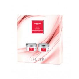 ERRE DUE Body Care Kit Hokkaido Silk (Body Scrub 220ml & Body Cream 220ml)