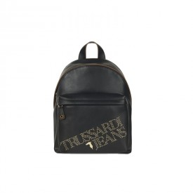 TRUSSARDI JEANS BACKPACK ECOLEATHER LIGHT GOL BLACK 75B00894 9Y099999
