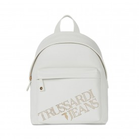 TRUSSARDI JEANS BACKPACK ECOLEATHER LIGHT GOL WHITE 75B00894 9Y099999