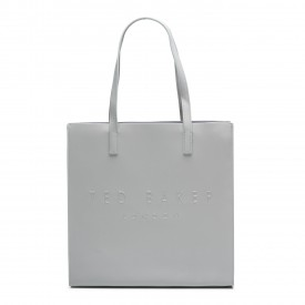 TED BAKER soocon crosshatch large icon bag lt-grey 155930