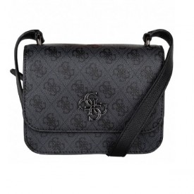 GUESS NOELLE MINI CROSSBODY FLAP COAL HWSM7879780