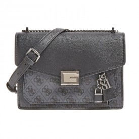 GUESS VALY CONVERTIBLE XBODY FLAP  COAL HWSM7873210