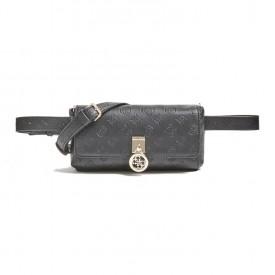 GUESS NINNETTE CNVRTBL XBDY BELT BAG  BLACK HWSG7877800