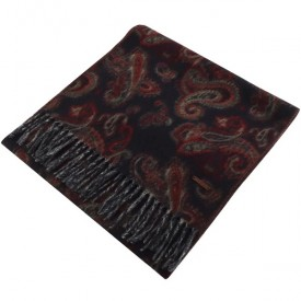 TED BAKER claww Paisley printed scarf Navy 246648